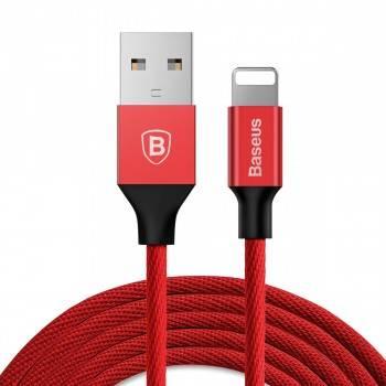 Kabel USB Lightning 120cm Baseus Yiven kabel przewód w materiałowym oplocie czarny/czerwony/niebieski/kawowy (CALYW-01)